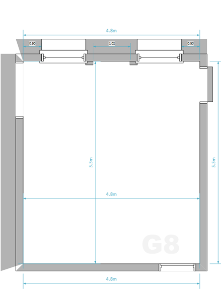 Studio G8 Floorplan