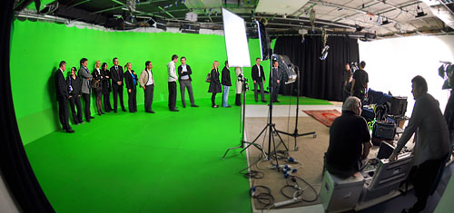 Crowd Scene on green screen